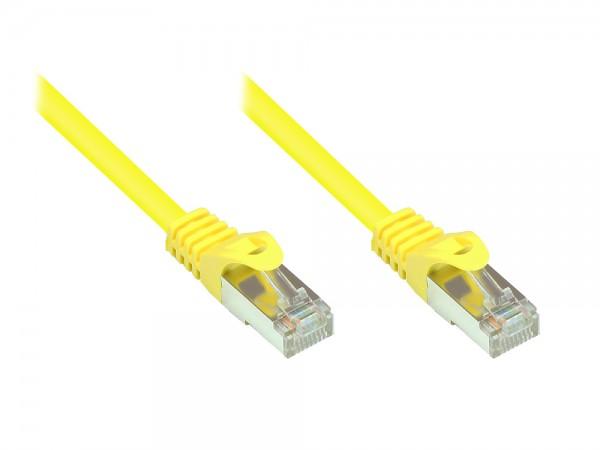 RNS® Patchkabel mit Rastnasenschutz, Cat. 5e, SF/UTP, PVC, 100MHz, gelb, 1m, Good Connections®