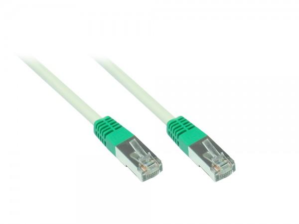 Patchkabel, Cat. 5e, F/UTP, crossover, grau, 0,5m, Good Connections®