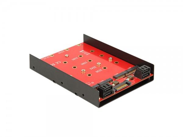 "Konverter 4 x SATA 7 Pin an 4 x M.2 NGFF, 3,5"", Delock® [62574]"