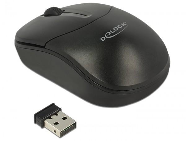 Optische 3-Tasten Mini Maus 2,4 GHz wireless, Delock® [12494]