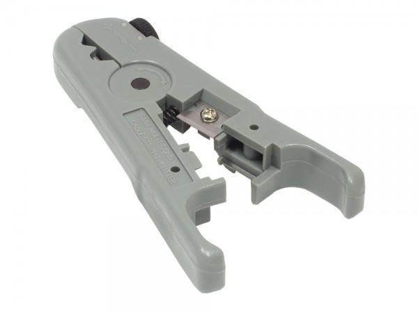 Abisolierzange für Netzwerkkabel (3,2mm - 9mm) inkl. Kabelschneider, Good Connections®