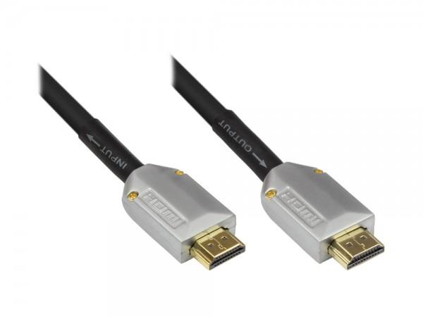 High-Speed-HDMI®-Kabel mit Ethernet, vergoldete Stecker, schwarz, 60m, Good Connections®