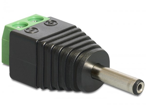 Adapter, DC 1,3 x 3,5 mm Stecker zu Terminalblock 2 Pin, Delock® [65434]