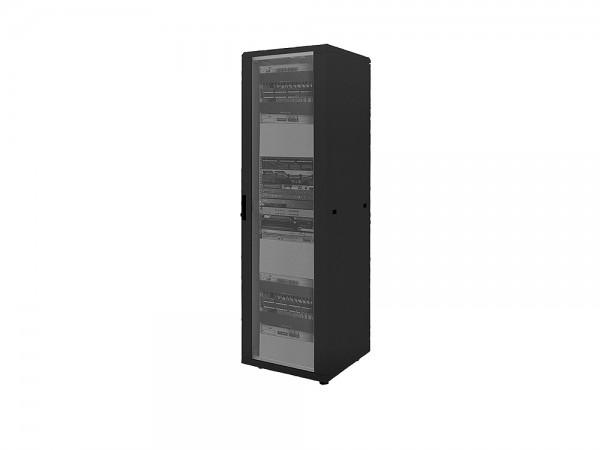 """19"""" Netzwerk Standschrank, 42HE, 600x1000mm, schwarz, LogiLink® [D42S61B]"""