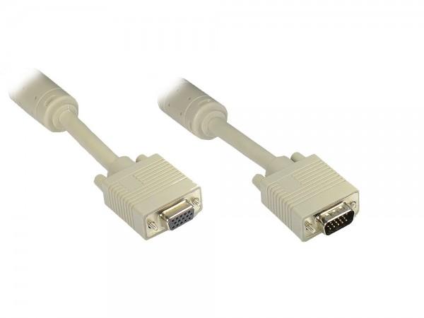 Verlängerung S-VGA Stecker auf Buchse, grau, 7m, Good Connections®