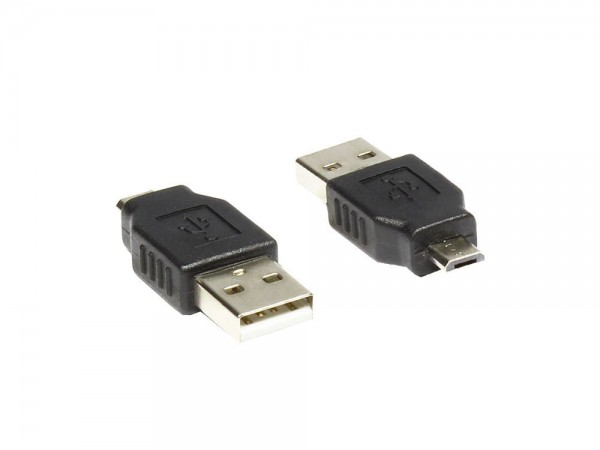 Adapter USB micro-B Stecker to USB 2.0 A Stecker, Good Connections®