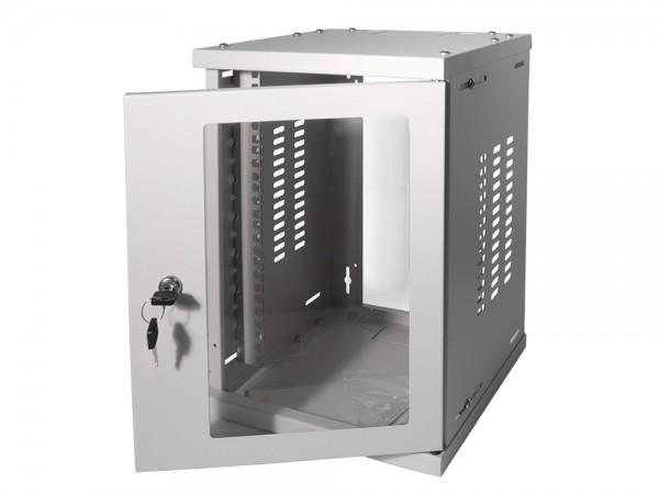 "10"" SOHO Wandgehäuse 8HE 312x300mm, montiert, grau, LogiLink® [W09Z33G]"