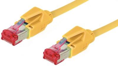 Patchkabel, Cat. 6, S/FTP, PiMF, halogenfrei, 600MHz, Hirose-Stecker, gelb, 1,5m, Good Connections®