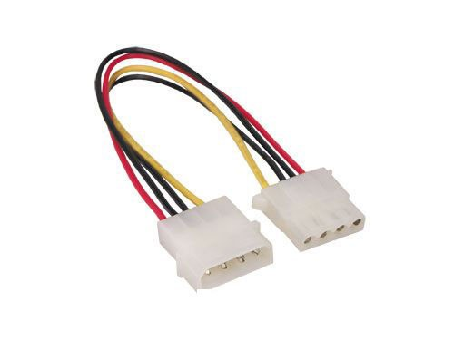 """5,25"""" Stromkabelverlängerung 4pol, intern, ca. 20cm, Good Connections®"""