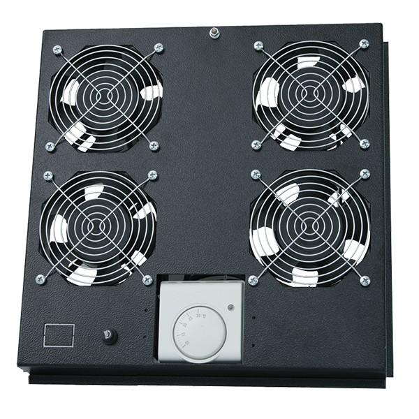 Dachlüftereinsatz für Standschrank mit 2 Lüfter, schwarz, LogiLink® [FAS121B]