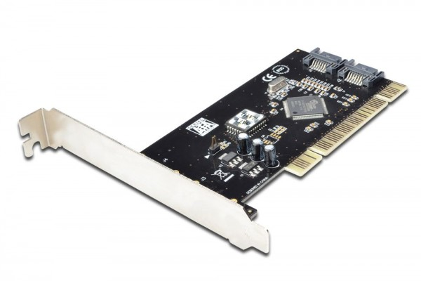 Serial ATA 150 RAID PCI Karte, 2x SATA Port intern, mit SATA Kabel Silicon Image 3512 Digitus® [DS-33101-1]