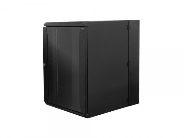 """19"""" Wandgehäuse zweiteilig 21HE 600X650mm, schwarz, LogiLink® [W21D67B]"""