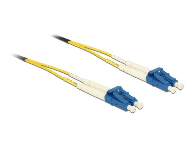Kabel Lichtwellenleiter LC an LC Singlemode OS2, 2m, Delock® [84606]