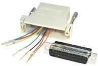 Adapter 25pol SubD Stecker an RJ 45 Buchse, frei belegbar, Good Connections®