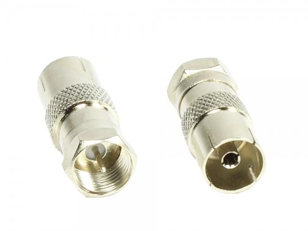 Adapter, F-Stecker an Koax Buchse, Good Connections®