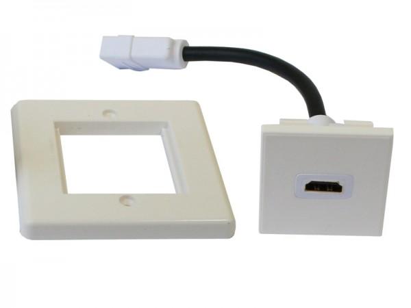 HDMI-Einbaurahmen/Anschlussdose, mit 1 HDMI Anschluss, Good Connections®