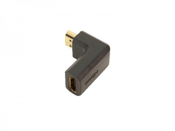 LogiLink® HDMI Adapter 19pol Stecker/Buchse, 90° gewinkelt, vergoldet [AH0005]