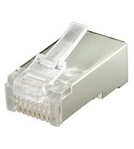 RJ45 Crimpstecker, geschirmt 8P/8C, Flachkabel, Good Connections®