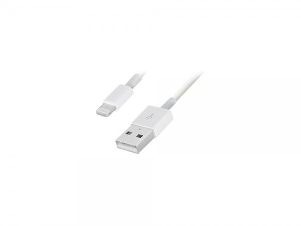 USB Sync- und Ladekabel für iPod, iPhone, iPad, Apple Lightning Connector, weiß, 0,2m