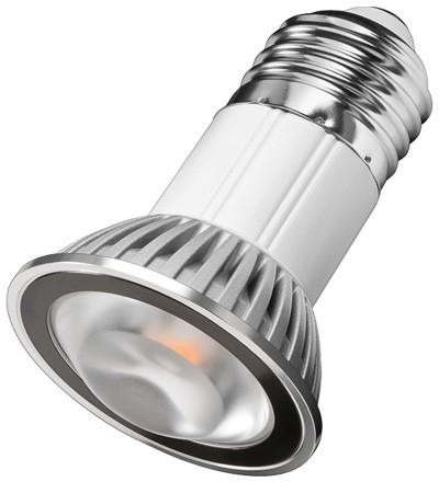 LED Spotlampe E27 Classic Weiß, Sharp Mini ZENI Chip LED, 130lm, 4,6W, 230V, 4000W