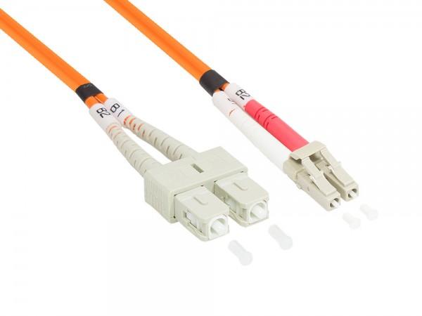 Patchkabel LWL Duplex OM2 (Multimode, 50/125) LC/SC, 0,5m, Good Connections®