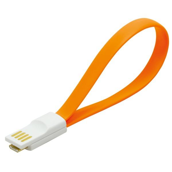 Kabel USB 2.0 zu Micro-USB, mit Magnetverschluss im Stecker, orange, LogiLink® [CU0088]
