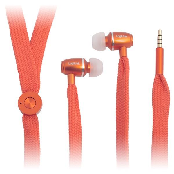 Kopfhörer, stereo, In-Ear, orange, LogiLink®, [HS0027]