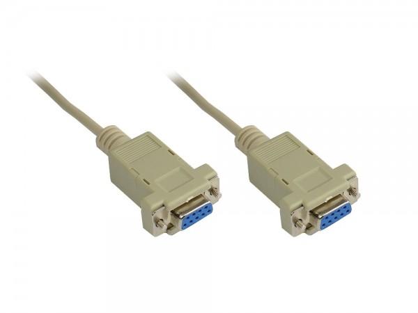 Nullmodem Kabel, 9-pol Buchse / Buchse, Länge: 5m, Good Connections®