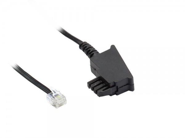 TAE-F Anschlusskabel für Import-Telefone, Länge: 6m, Good Connections®