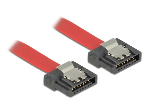 Kabel SATA FLEXI 6 Gb/s 50 cm rot Metall, Delock® [83835]