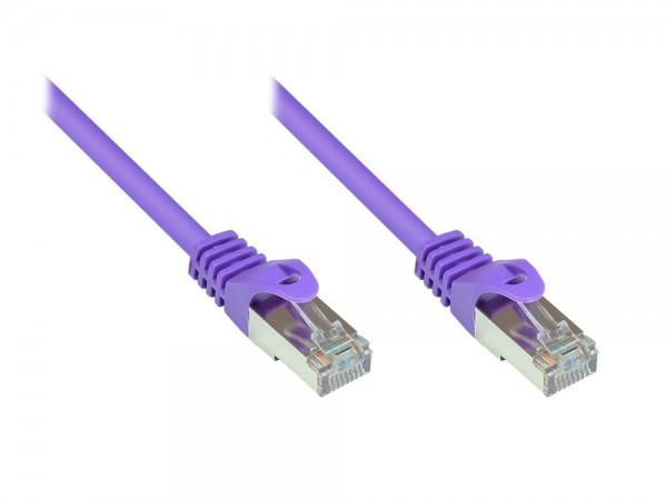 RNS® Patchkabel mit Rastnasenschutz, Cat. 5e, SF/UTP, PVC, 100MHz, violett, 7,5m, Good Connections®