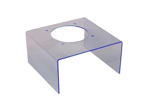 Transparenter Gehäusedeckel für Netzteile, blau
