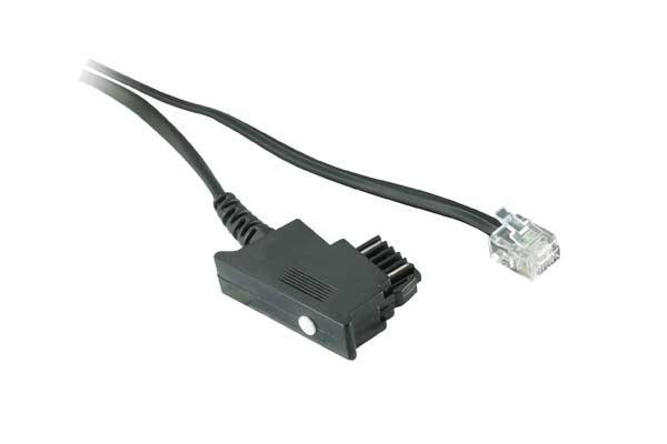 Telefonanschlusskabel, TSS auf Modular Stecker 6/2, 6,0m, Good Connections®