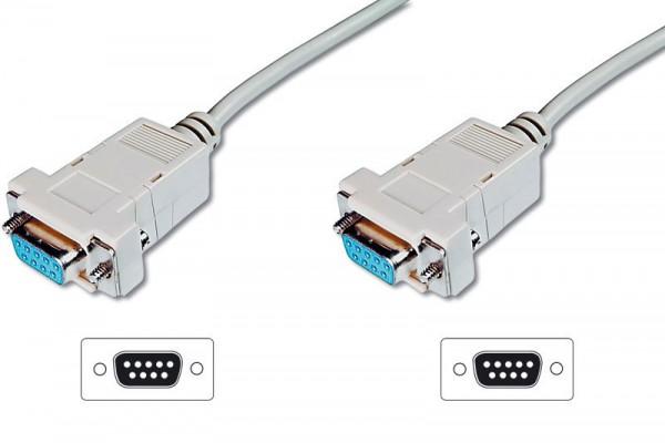 Nullmodem Kabel, 9-pol Buchse / Buchse, Länge: 1,8m, Good Connections®