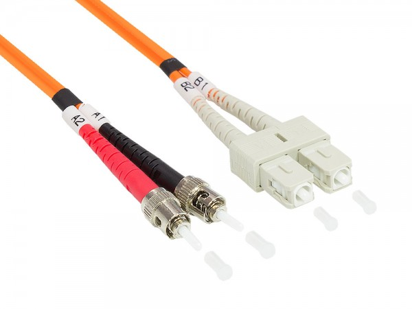 Patchkabel LWL Duplex OM2 (Multimode, 50/125) ST/SC, 1m, Good Connections®