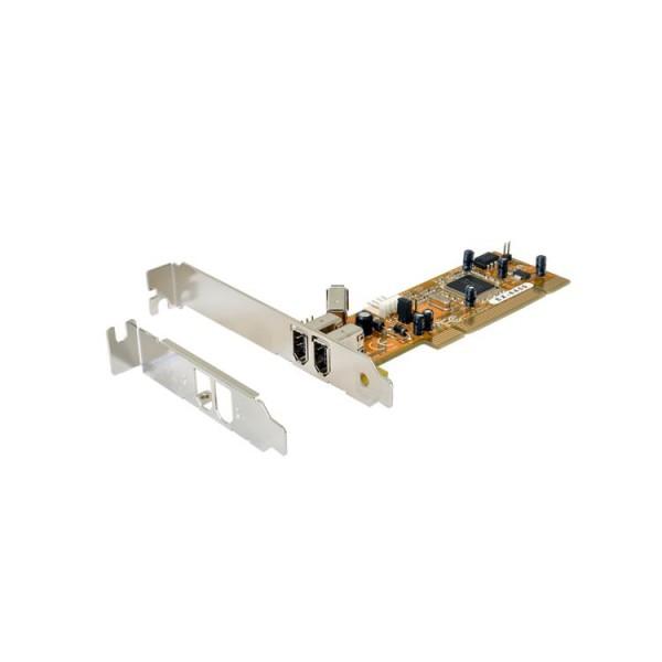 FireWire 1394A PCI 2+1 Karte inkl. LP Bügel (TI Chip-Set), Exsys® [EX-6450]