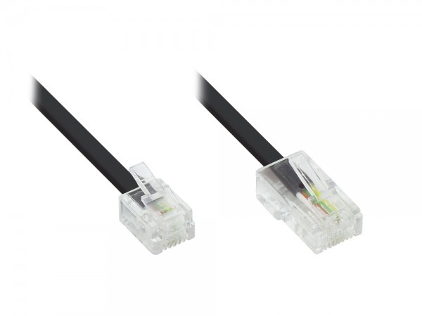 DSL Modem Kabel RJ11 / RJ45, schwarz, 10m, Good Connections®