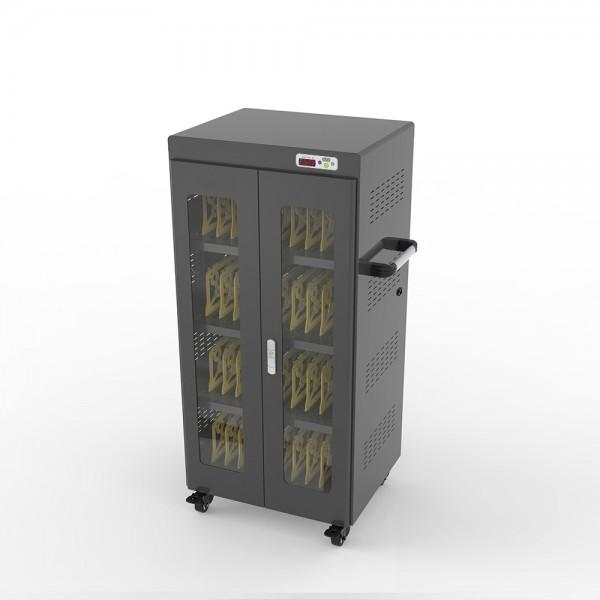 """Notebook-Ladewagen für Geräte bis 14"""" und bis zu 40 Geräten, inkl. UV-C Desinfektion und Smart Control, schwarz, Good Connections®"""