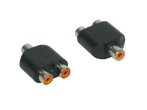 Audio Adapter 2 x Cinch Buchse / 1 x Cinch Buchse, Good Connections®