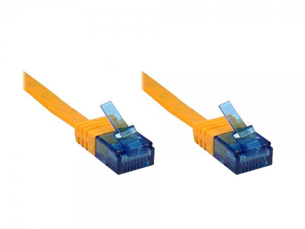 Patchkabel, Cat. 6a, U/UTP, FLACHKABEL, 500 MHz, orange, 20m, Good Connections®