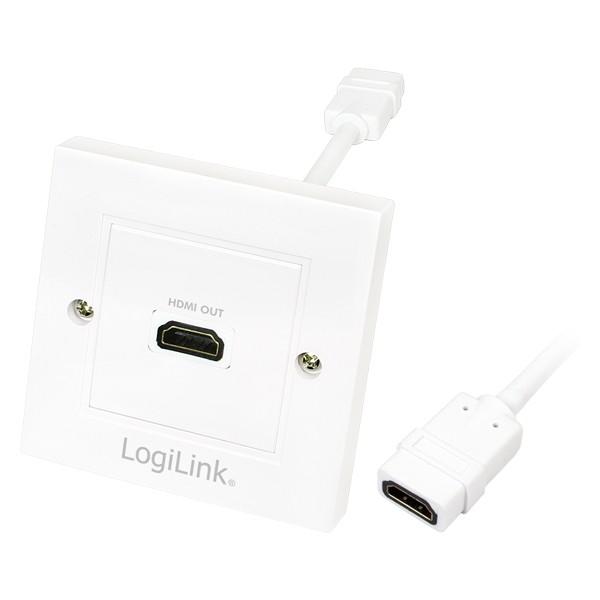 HDMI Wanddose mit 1x HDMI Buchse, LogiLink® [AH0014]