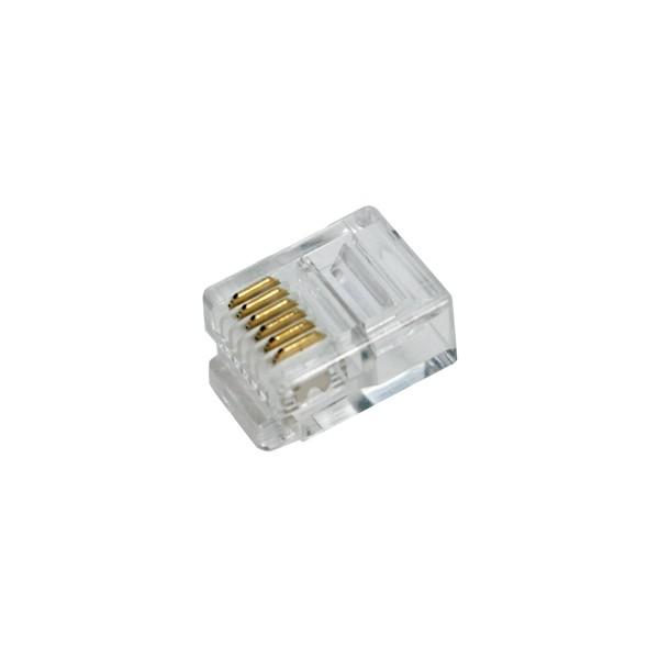 LogiLink® RJ12 Modularstecker, ungeschirmt, 100er [MP0019]