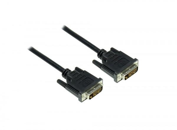 Anschlusskabel DVI-I 24+5 Stecker an Stecker, schwarz, 1,8m, Good Connections®