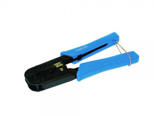 Modulare Crimpzange für 8P8C/RJ45, 6P6C/RJ12 und 6P4C/RJ11 Stecker, LogiLink® [WZ0033]