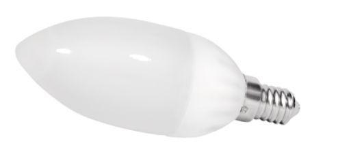 LED Kerzenlampe, 2,5W, 230V, 140 lm, 3000K, (warmweiß), nicht dimmbar, A+, >180° Abstrahlwinkel