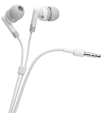 InEar Stereo Kopfhörer für iPod und iPhone, weiß