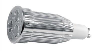 Power LED, GU 10, 3 LEDs, 9W, 230 V, 380 lm, 3000K, Abstrahl