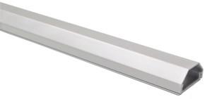 Kabelkanal Aluminium 33mm, 2-teilig, Länge 0,75m, silber