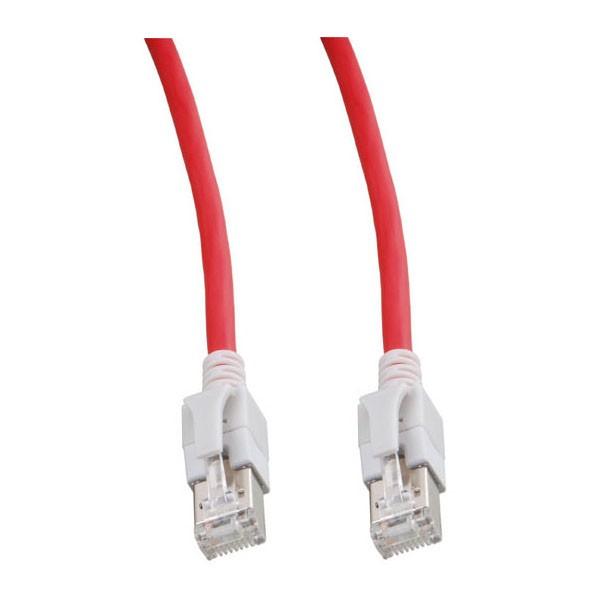 Patchkabel, Cat. 6A, S/FTP, PiMF, halogenfrei, mit leuchtenden Steckern, rot, 30m, Good Connections®
