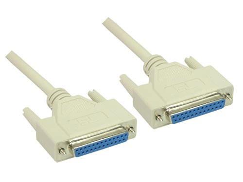 Nullmodem Kabel, 25-pol Buchse /Buchse, Länge: 1,8m, Good Connections®